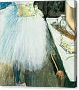 Dancer In Her Dressing Room Canvas Print