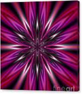 Dark Purple Abstract Star Duvet Cover  Canvas Print