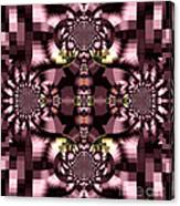 Dark Purple Flowers Abstract Duvet Cover Canvas Print