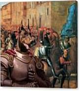 Doberman Pinscher Art -entree De Charles Viii Dans Florence Canvas Print