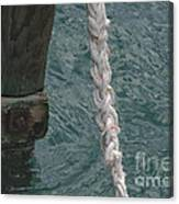 Dock Rope And Wood Canvas Print