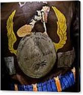 Dona Bomber Jacket Canvas Print