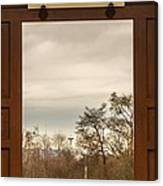 Door With A View Canvas Print