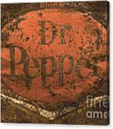 Dr Pepper Vintage Sign Canvas Print