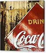 Drink Coca Cola  Memorbelia Canvas Print