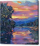 Dusk River Canvas Print