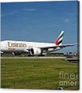 Emirates Boeing 777 Canvas Print