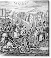 English Soldiers Under Edward  IIi Canvas Print