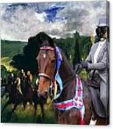 Entlebucher Sennenhund  - Entelbuch Mountain Dog Art Canvas Print -who Is The Winner Of The Race Canvas Print