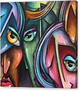 ' Face Us 2' Canvas Print