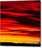 Fiery Furnace Sunset Canvas Print