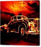 Fire  Flame  Hell  Classic Car  City Canvas Print