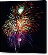 Fireworks Across The Bay Canvas Print