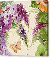Flowering Butterfly Bush Canvas Print