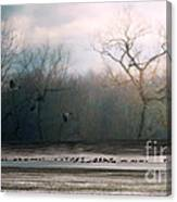 Flying Geese Surrealism Canvas Print