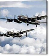 Flying Lancasters Canvas Print