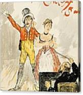 France Paris Poster Of Stage Performance At Cafe Chantant Canvas Print