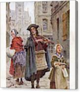 French Street Musicians -  Fiddler Canvas Print