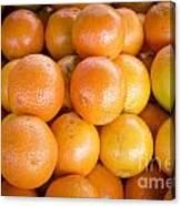 Fresh Oranges On A Street Fair In Brazil Canvas Print