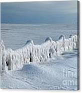 Frozen Pier Canvas Print