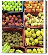 Fruit Assisi Italy Market Canvas Print