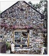 German Stone Cottage Canvas Print