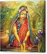 'gold' Radha Canvas Print