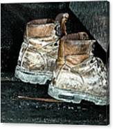 His Work Boots Canvas Print