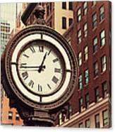 Historic Clock Of The Fifth Avenue Canvas Print