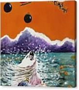 Holiday Polar Bear Canvas Print