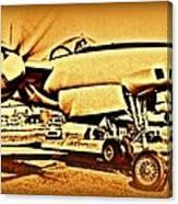 Howard Hughes And The Hughes Xf-11 Canvas Print