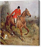 Hunting Scene Canvas Print