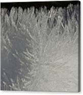 Ice Crystal Formations Canvas Print