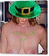 Im Irish Rub Me For Luck Canvas Print