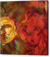 Impressionistic Bouquet Of Red Flowers Canvas Print
