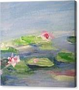 Impressionistic Lilies Monet Canvas Print