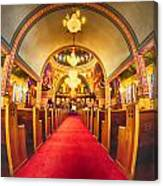 Interior Of  Holy Trinity Gre Canvas Print