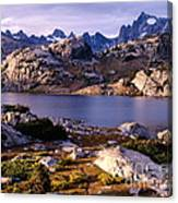 Island Lake And Wind River Range Canvas Print