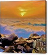 Jeddah Sunset Canvas Print