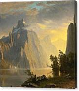 Lake In The Sierra Nevada Canvas Print