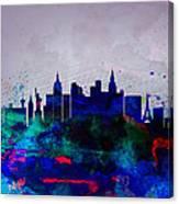 Las Vegas Watercolor Skyline Canvas Print