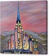 Latter Day Saints Rexburg Mormon Temple Rexburg Idaho Canvas Print