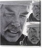 Lee Marvin Monte Walsh Variation #3 Collage Old Tucson Arizona 1969-2012 Canvas Print