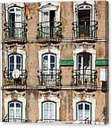 Lisbon - 18th Century Facade  Canvas Print