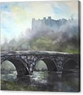 Ludlow Castle In A Mist Canvas Print