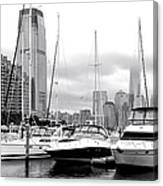 Marina In Black And White Canvas Print