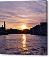 Mia Pervinca Murano Sunset  Canvas Print