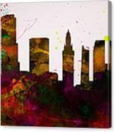 Miami City Skyline Canvas Print