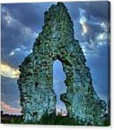Midley Church Ruins At Dusk Canvas Print