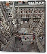 Milan From The Roof Canvas Print